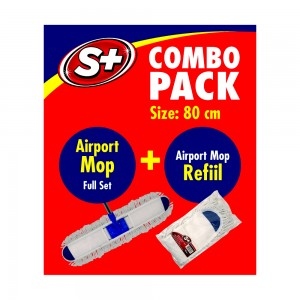C&H 80 CM Airport Mop and Refill Combo