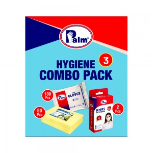 C&H Hygiene Combo Pack with 50 Pcs Spun Wipe, 100 Pcs HDPE Gloves & 5 Pcs KN95 Masks
