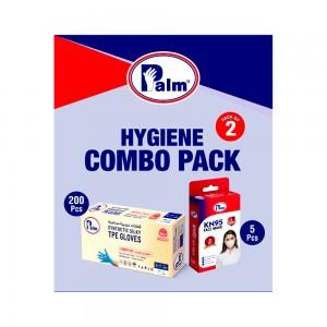 C&H Hygiene Combo Pack with 200 Pcs TPE Gloves & 5 Pcs KN95 Masks