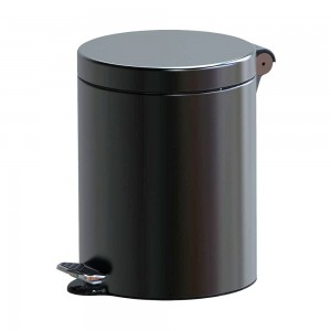 Alda Stainless Steel 5L Freedom Fresh Round Pedal Bin With Soft Close-SOFTF611A