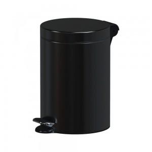 Alda Hotel Safe 3L Round Pedal Bin-Black, F610APO