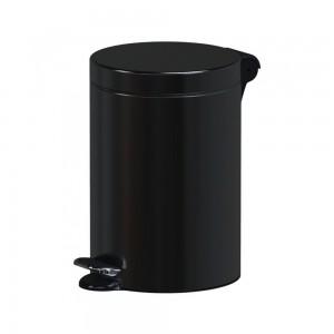 Alda Hotel Safe 5L Round Pedal Bin-Black, F611APO