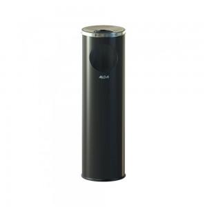Alda Stainless Steel 15L Cigarette Pillar Gloss Ashtray Bin-631