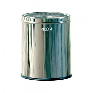 Alda Perforated Officeer-D Black 7L Bin