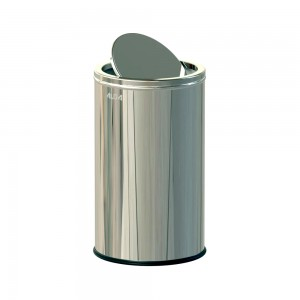 Alda Stainless Steel 18L Gloss Swing Bins With Lid-675