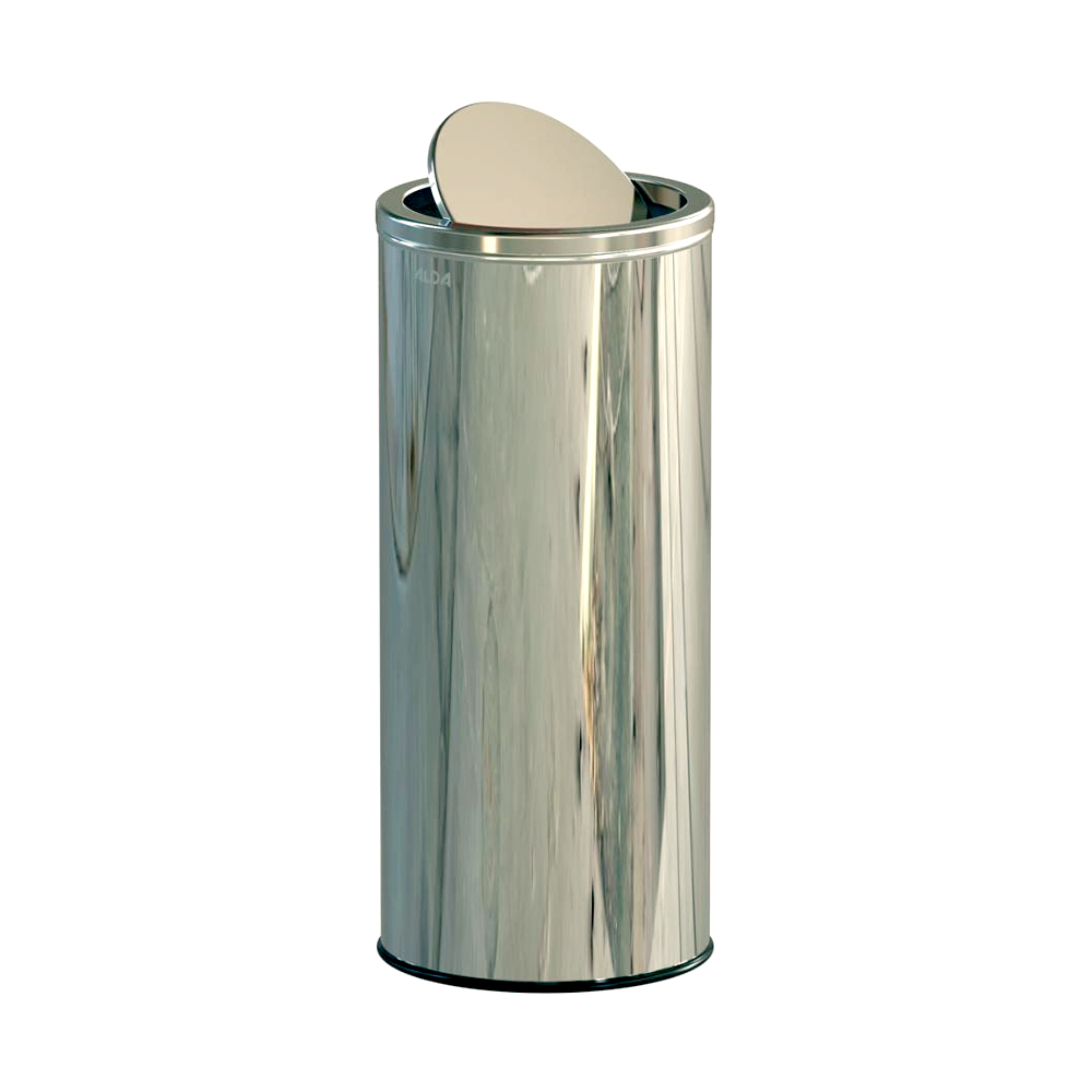 Alda Stainless Steel 45L Gloss Swing Bins With Lid-676