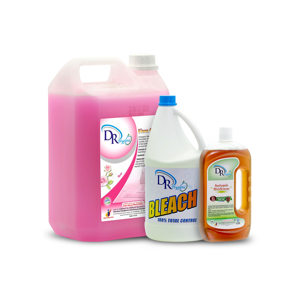 Dr. Hygiene Bleach+ Antiseptic Disinfectant + floor cleaner disinfectant(Rose)