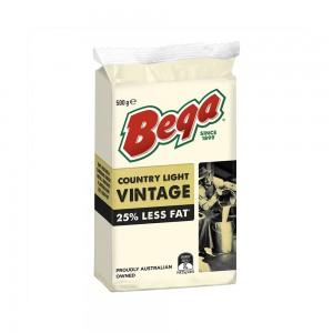 Bega Country Light Vintage 25% Rf Block Cheese