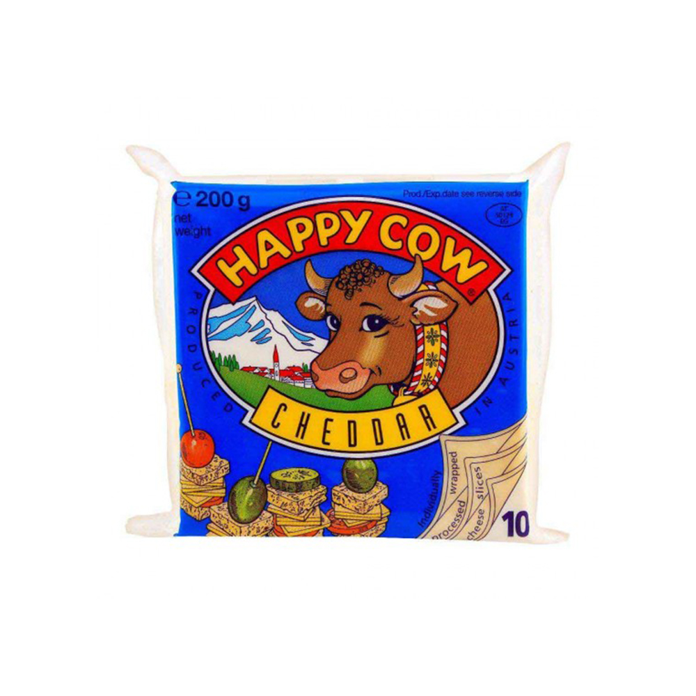 Happy Cow Cheddar Slice Cheese