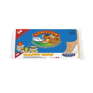 Happy Cow Cheddar Slice Cheese (Colour)