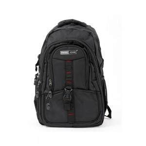PARA JOHN Backpack for School, Travel & Work, 16''- PJSB6007A16-Black
