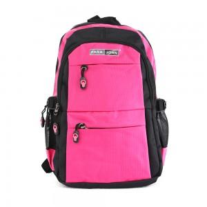 PARA JOHN Backpack for School, Travel & Work, 16''- PJSB6014A16-Pink