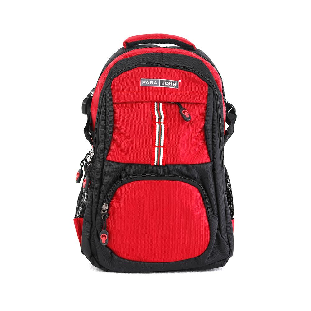 PARA JOHN Backpack for School, Travel & Work, 18''- PJSB6015A18-Red