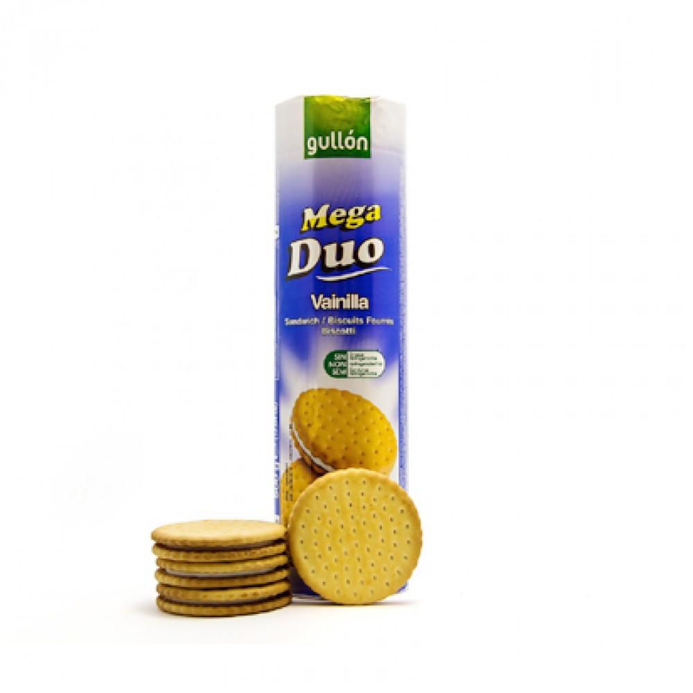 Gullon Mega Duo Vanilla Sandwich Biscuits (Blue)